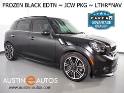 2015_MINI_Cooper Countryman S_*FROZEN BLACK EDITION, JCW PKGS, NAVIGATION, LOUNGE LEATHER, PANORAMA MOONROOF, BLUETOOTH_ Round Rock TX