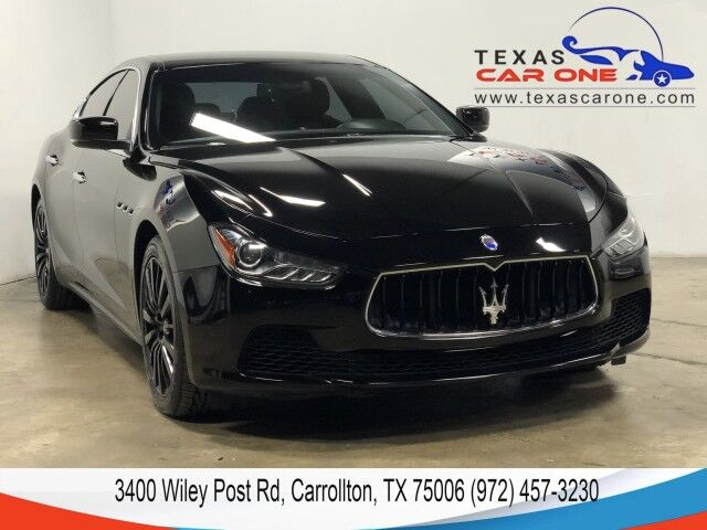 2015 Maserati Ghibli NAVIGATION LEATHER SEATS REAR CAMERA KEYLESS START BLUETOOTH Carrollton TX