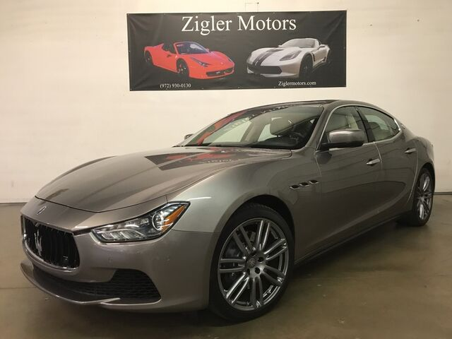 2015 Maserati Ghibli Touring Pkg Navigation Backup Camera One Owner 20Kmi Clean Carfax Addison TX