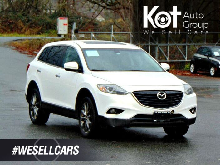 2015 Mazda CX-9 GT! 7 PASSENGER! FULL LOAD! LEATHER! SUNROOF! NAV! BACKUP CAM! R Kelowna BC
