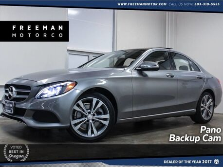 2015_Mercedes-Benz_C 300_4MATIC Pano Blind Spot Assist Backup Cam_ Portland OR