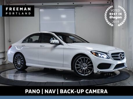 2015_Mercedes-Benz_C 400_4MATIC Pano Nav Back-Up Camera Blind Spot Assist_ Portland OR