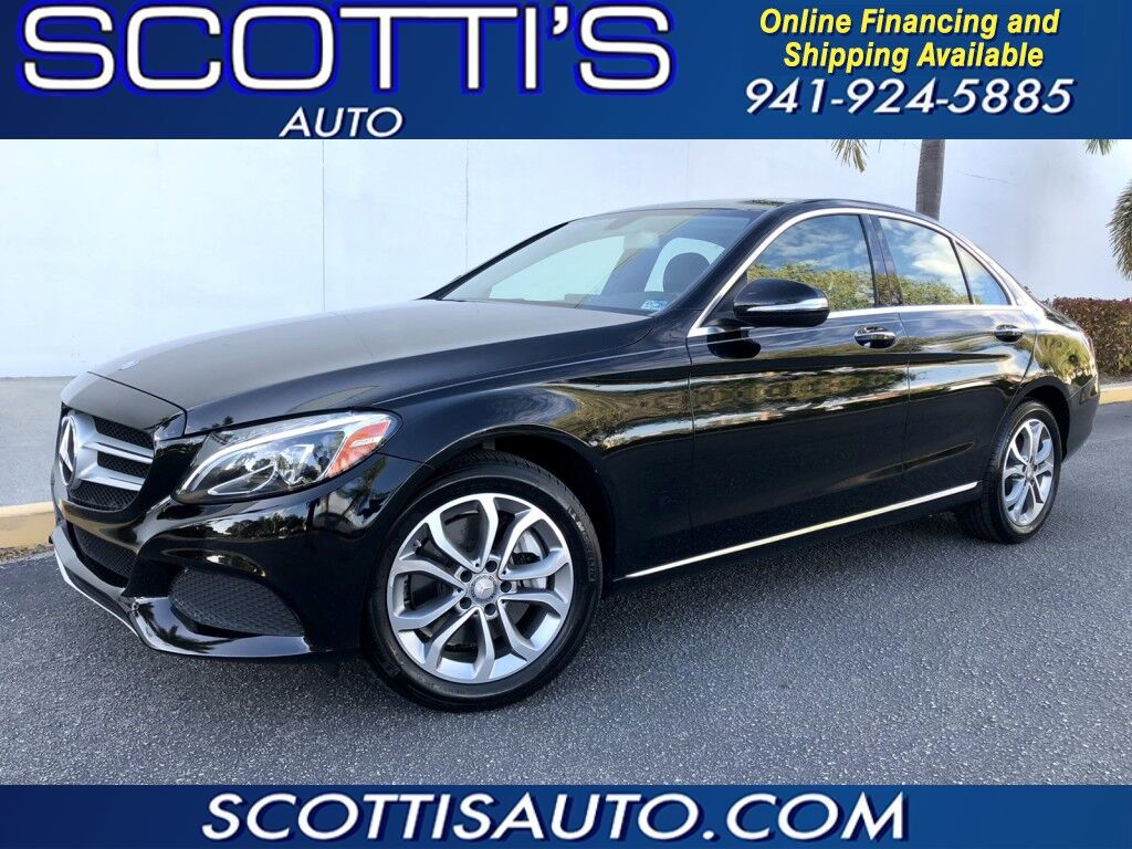 2015 Mercedes-Benz C-Class C 300 4MATIC~ ONLY 58K MILES~ BLK/BLK~PREMIUM SOUND~ NAVIGATION~ PANO ROOF~ CLEAN CARFAX~ EXCELLENT CONDITION~LOADED~ ONLINE FINANCE AND SHIPPING~ Sarasota FL