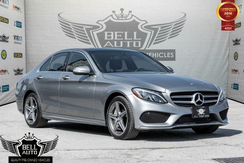 2015 Mercedes-Benz C300 4MATIC AMG SPORT NAVIGATION PANORAMIC SUNROOF LEATHER BACKUP CA Toronto ON