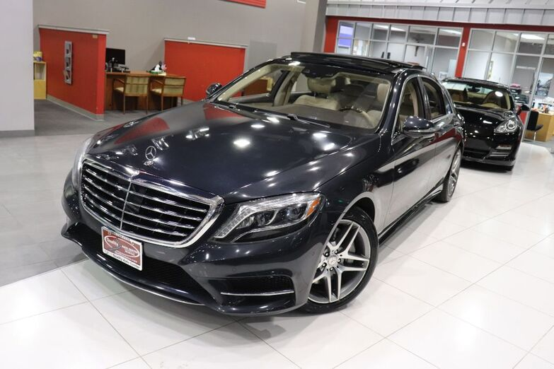 2015 Mercedes-Benz S-Class S 550 Premium 1 Sports Package Drivers Assist Silk Espresso Leather Surround View Camera Rear Spoiler Navigation Sunroof Springfield NJ