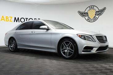 2015_Mercedes-Benz_S-Class_S 550 Sport AMG HUD Lane keep assist Rear Seat Pkg_ Houston TX