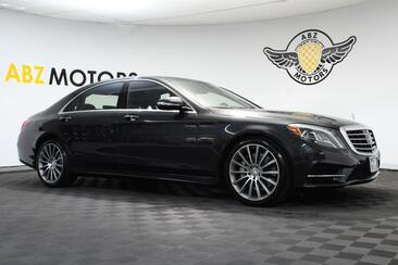 2015_Mercedes-Benz_S-Class_S 550 Sport AMG Rear Seat Package HUD Lane Keep Assist_ Houston TX
