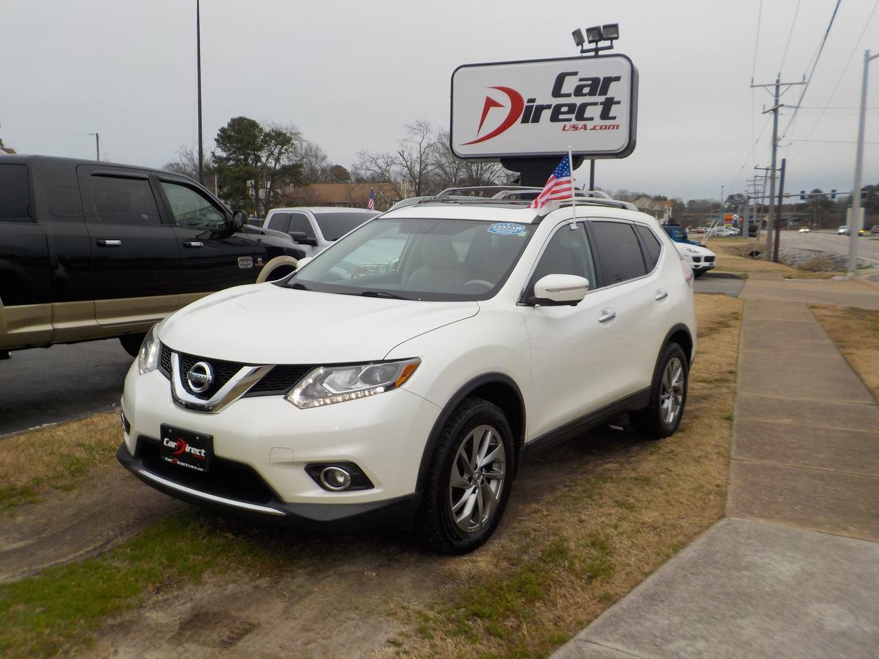 2015 NISSAN ROGUE SL AWD, ONE OWNER, LEATHER, HEATED SEATS, BOSE SOUND SYSTEM, PANO ROOF, BACKUP CAM, ONLY 79K MILES!