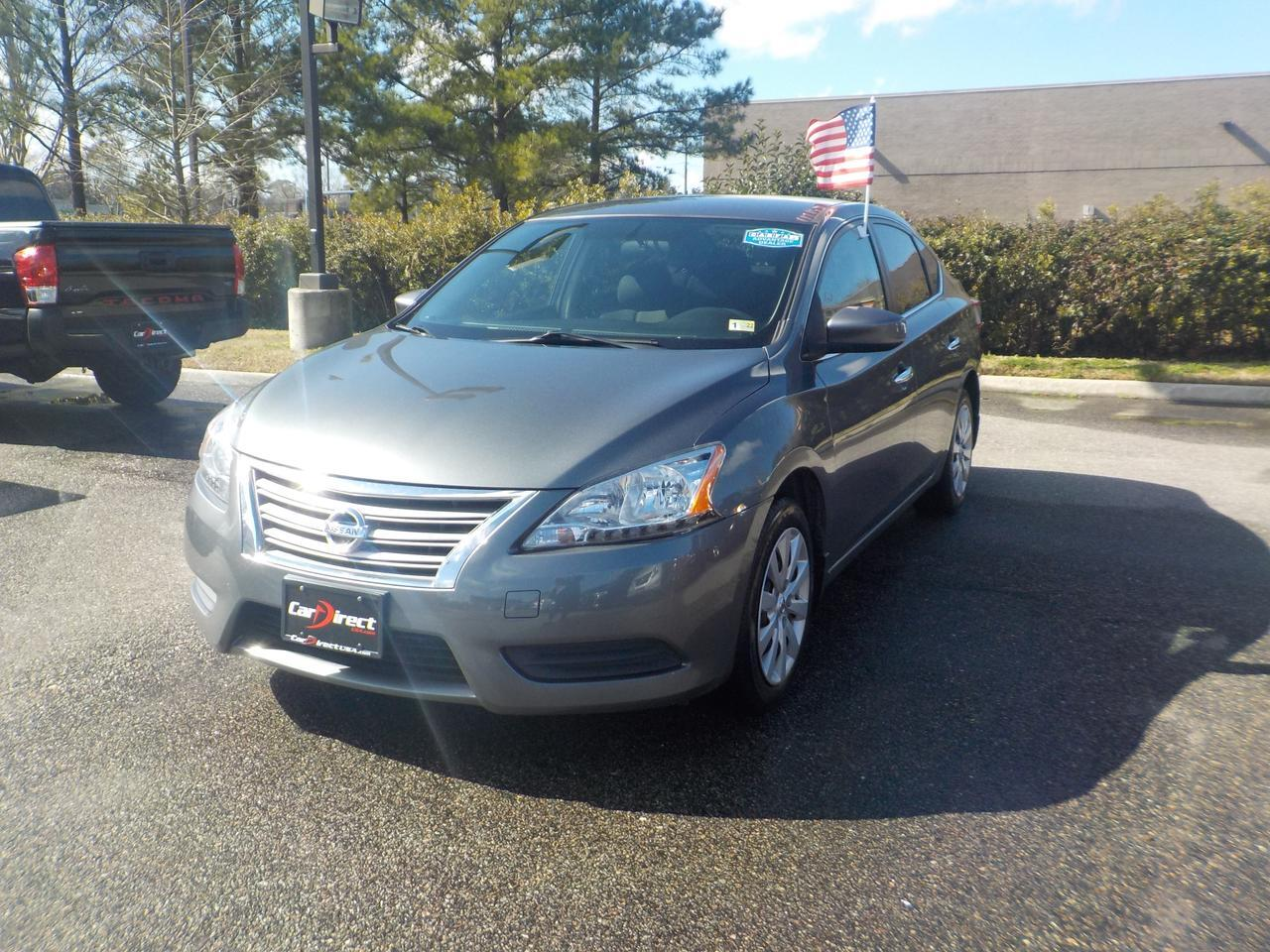 2015 NISSAN SENTRA S CVT, SATELLITE CAPABILITIES, BLUETOOTH WIRELESS, SUPER CLEAN, WELL MAINTAINED!