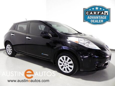 2015 Nissan LEAF S *BACKUP-CAMERA, QUICK CHARGE, STEERING WHEEL CONTROLS, HEATED SEATS, HEATED STEERING WHEEL, CRUISE CONTROL, BLUETOOTH PHONE Round Rock TX