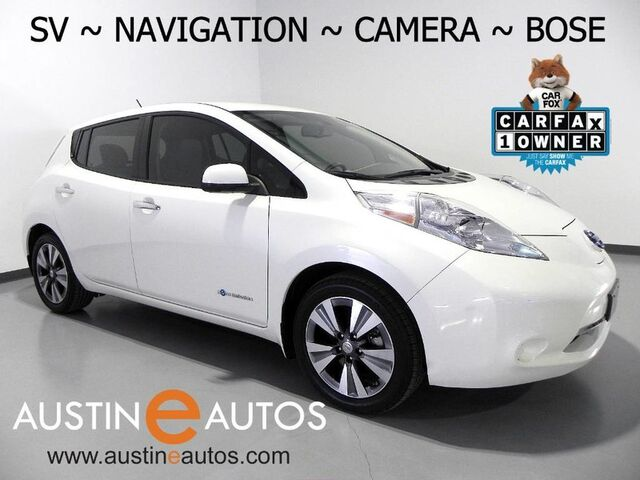 2015 Nissan LEAF SV (12 of 12 BARS) *NAVIGATION, SURROUND CAMERAS, BOSE AUDIO, TOUCH SCREEN, HEATED SEATS & STEERING WHEEL, BLUETOOTH PHONE & AUDIO Round Rock TX