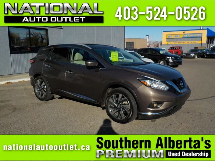 2015 Nissan Murano Platinum - LOW KLM,S , CLEAN CAR PROOF, AWD Lethbridge AB