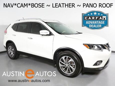 2015 Nissan Rogue AWD SL *NAVIGATION, PANORAMA MOONROOF, BLIND SPOT ALERT, SURROUND VIEW MONITOR, LEATHER, HEATED SEATS, BOSE AUDIO, BLUETOOTH Round Rock TX