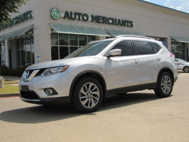 2015 Nissan Rogue SL FWD NAV, HTD SEATS, BLUETOOTH, 360 DEG CAM, AUX INPUT, PUSH BUTTON, SAT RADIO, LEATHER Plano TX