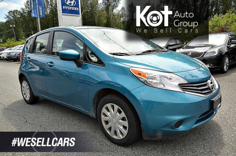 2015 Nissan Versa Note 5dr HB Auto 1.6 SV. Backup Camera! Heated side mirrors! Low KMS! Maple Ridge BC