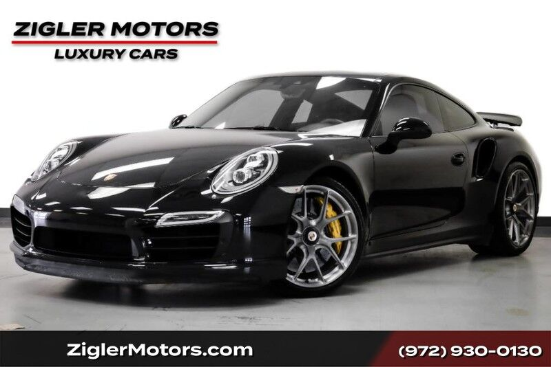2015 Porsche 911 Turbo S Coupe $191K MSRP 21kmi Jet Black Burmester Sounds