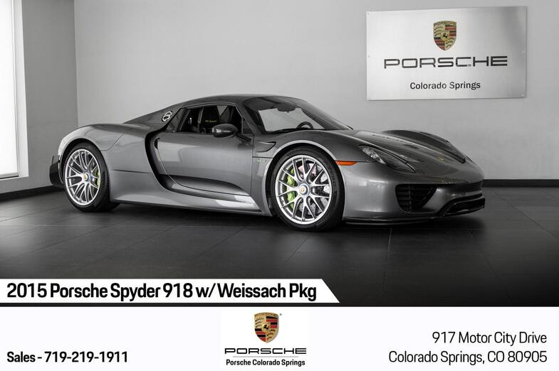 2015 Porsche 918 Spyder 918 w/Weissach Pkg Colorado Springs CO
