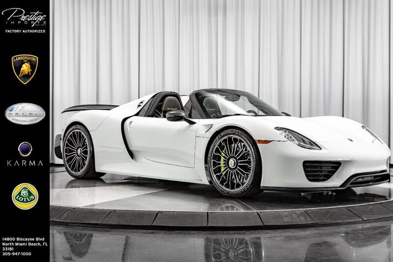 2015 Porsche 918 Spyder w/Weissach Pkg North Miami Beach FL