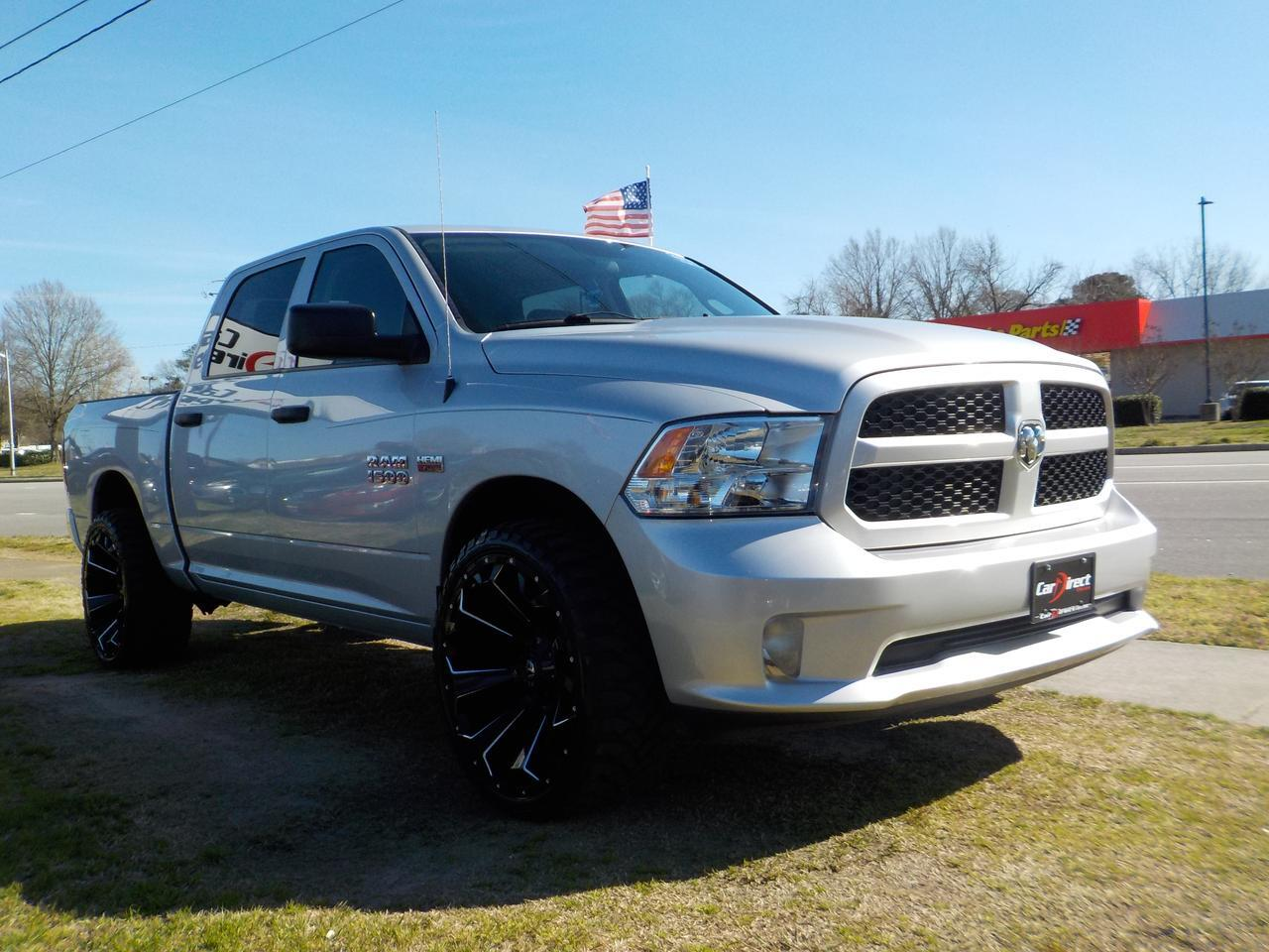 2015 RAM 1500 TRADESMAN CREW CAB 4X4, WARRANTY, CUSTOM FUEL RIMS, TOW, KEYLESS ENTRY, BED LINER, AUXILIARY PORT! Virginia Beach VA