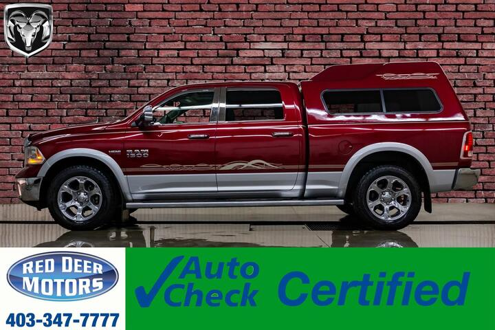 2015 Ram 1500 4x4 Crew Cab Laramie HEMI Leather Roof Nav Red Deer AB