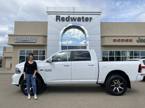 2015_Ram_1500_Sport Crew Cab 4x4 - Rig Ready RAM - 3.92 Gears - Level Kit - Rims and Tires_ Redwater AB