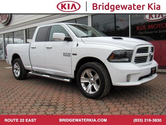 2015 Ram 1500 Sport Quad Cab 4WD, Navigation, Rear-View Camera, Bluetooth Technology, Heated Steering Wheel, Heated Leather-Trimmed Seats, Power Sunroof, Running Boards, 20-Inch Alloy Wheels, Bridgewater NJ