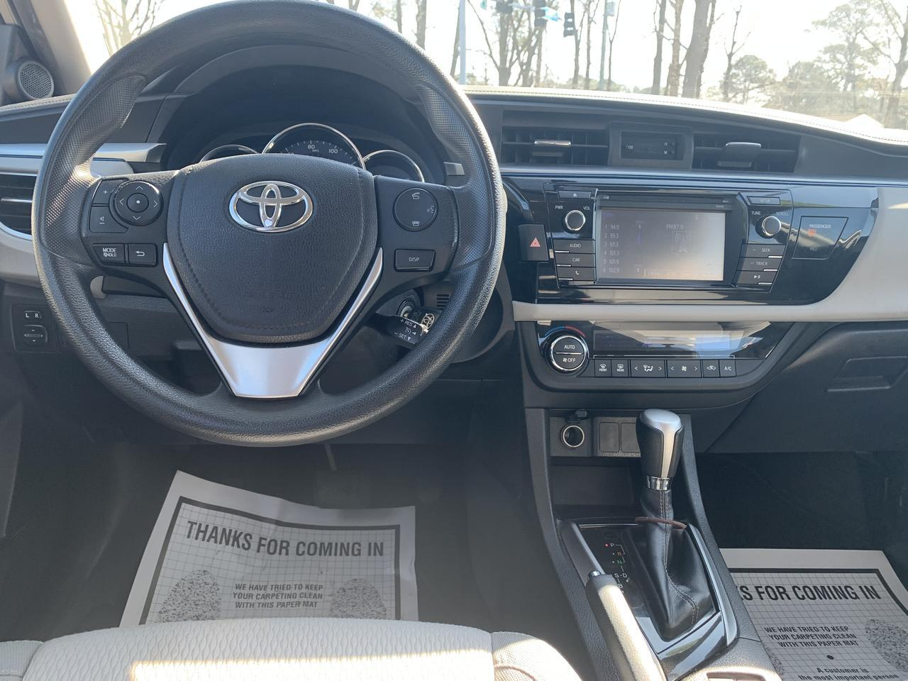 2015 TOYOTA COROLLA LE, WARRANTY, BLUETOOTH, BACKUP CAM, AUX/USB PORT, SATELLITE RADIO, KEYLESS ENTRY! Norfolk VA