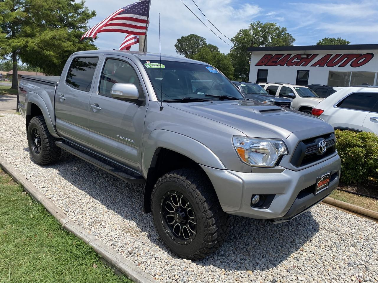 2015 TOYOTA TACOMA TRD SPORT DOUBLE CAB 4X4, WARRANTY, LIFTED, BLUETOOTH, BACKUP CAM, 1 OWNER, LOW MILES! Norfolk VA