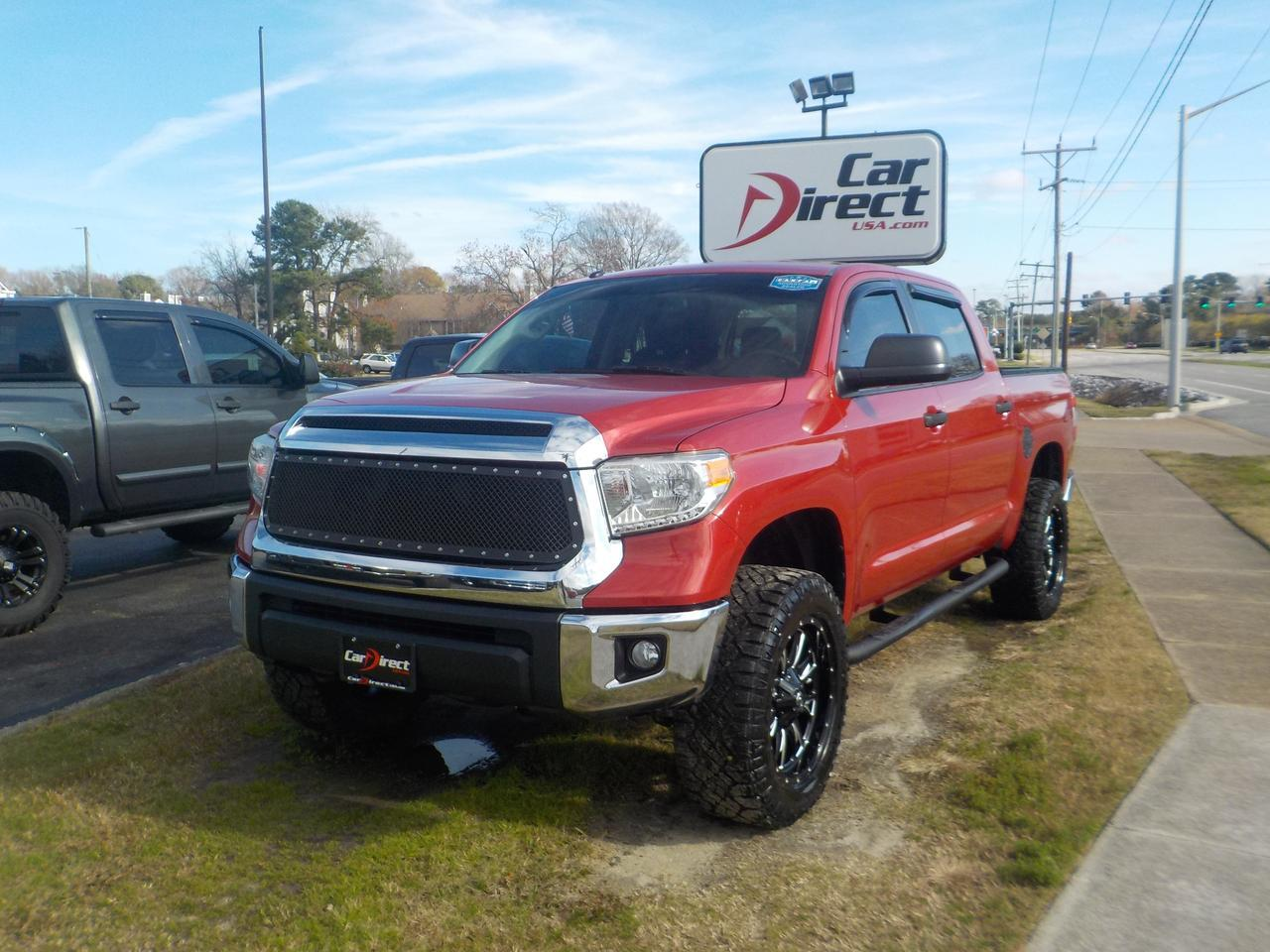 2015 TOYOTA TUNDRA SR5 CREWMAX 4X4, HARD TONNEAU COVER, TOW PACKAGE, BACKUP CAM, NAVIGATION, FUEL RIMS, ONLY 82K MILES! Virginia Beach VA