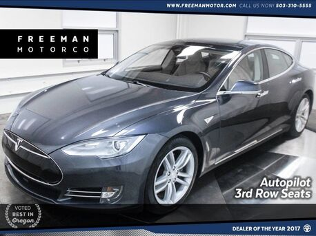 2015_Tesla_Model S_70D Autopilot 3rd Row Seat Pano Nav_ Portland OR