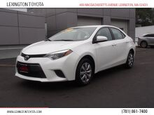 2015_Toyota_Corolla_LE_ Lexington MA