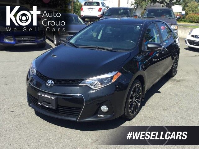 2015 Toyota Corolla S Auto One Owner! Backup Camera, Sunroof, Heated Front Seats Victoria BC