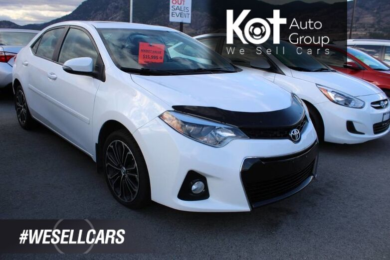 2015 Toyota Corolla S, One Owner, Great on Fuel Kelowna BC