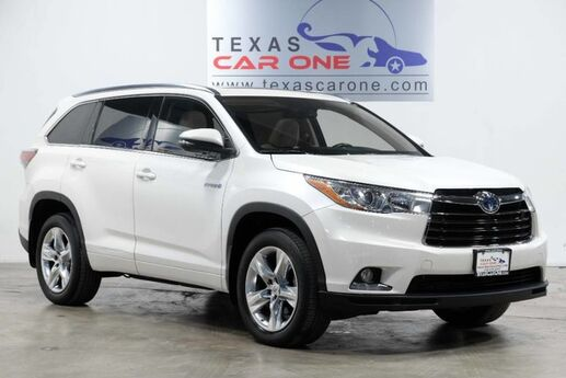 2015 Toyota Highlander Hybrid LIMITED AWD BLIND SPOT MONITORING NAVIGATION SUNROOF LEATHER SEA Addison TX