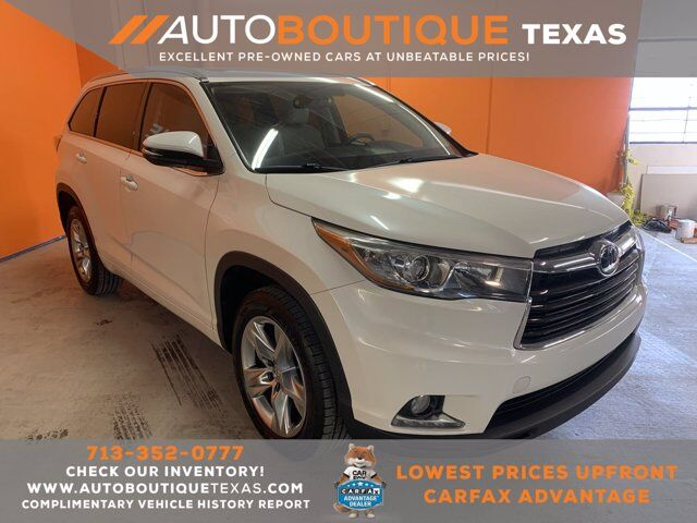 2015 Toyota Highlander Limited Platinum Houston TX