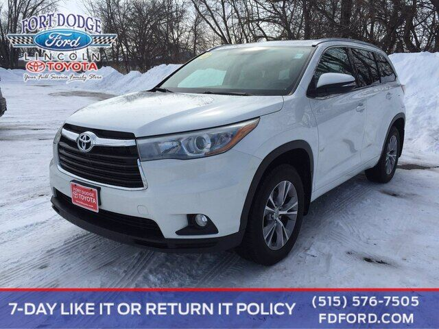 2015 Toyota Highlander XLE Fort Dodge IA