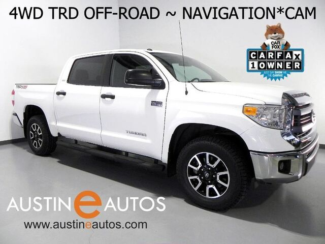 2015 Toyota Tundra 4WD CrewMax 5.7L V8 SR5 *TRD OFF-ROAD PACKAGE, NAVIGATION, BACKUP-CAMERA, TOUCH SCREEN, ALLOY WHEELS, BLUETOOTH PHONE & AUDIO Round Rock TX