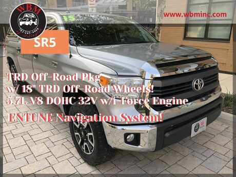 2015 Toyota Tundra 4x4 CrewMax w/ SR5 & TRD Pkgs Arlington VA