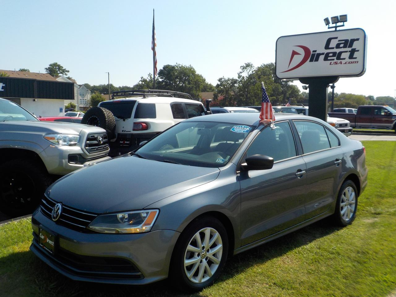 2015 VOLKSWAGEN JETTA SE, WARRANTY, KEYLESS ENTRY AND START, ONLY 70K MILES!