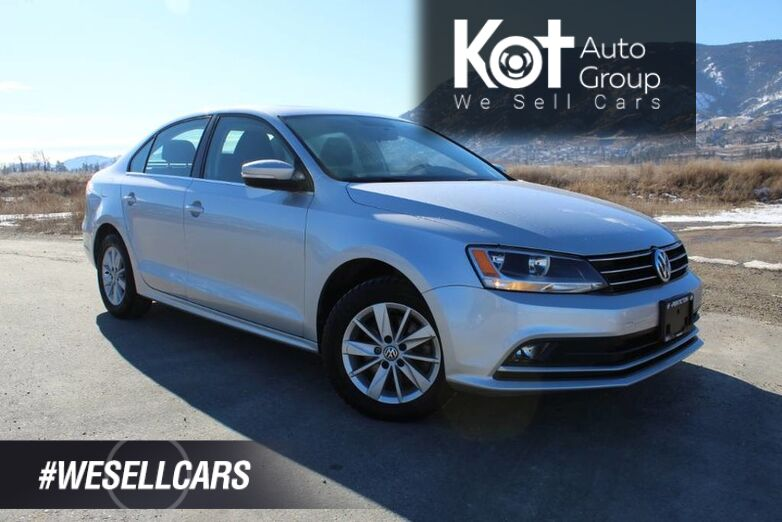 2015 Volkswagen Jetta Sedan TSI Comfortline, **Super Trendy & Reliable** Cool Car ! Kelowna BC