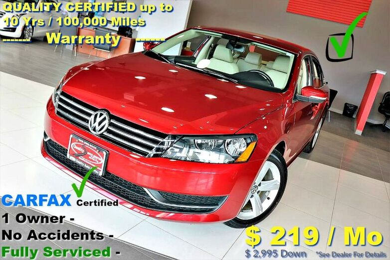 2015 Volkswagen Passat 1.8T SE - CARFAX Certified 1 Owner - No Accidents - Fully Serviced - QUALITY CERTIFIED up to 10 Yrs / 100,000 Miles Warranty Springfield NJ