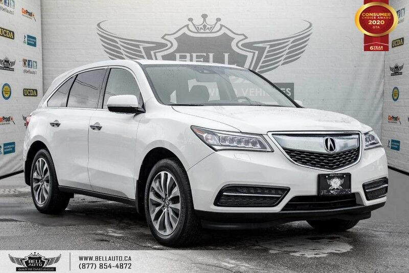 2016 Acura MDX Nav Pkg, AWD, 7 PASS, NO ACCIDENT, NAVI, BACK-UP CAM, SENSORS, LANE DEP Toronto ON