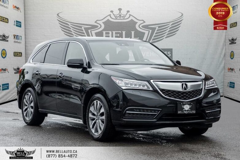2016 Acura MDX Nav Pkg, AWD, BACK-UP CAM, SUNROOF, SENSORS, COLLISION PREV Toronto ON