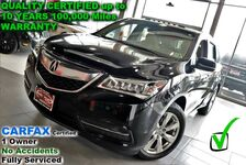 2016 Acura MDX w/Advance - CARFAX Certified 1 Owner - No Accidents - Fully Serviced QUALITY CERTIFIED up to 10 YEARS 100,000 MILE WARRANTY