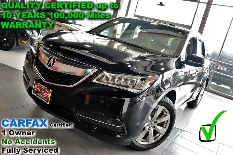 2016 Acura MDX w/Advance - CARFAX Certified 1 Owner - No Accidents - Fully Serviced QUALITY CERTIFIED up to 10 YEARS 100,000 MILE WARRANTY Springfield NJ