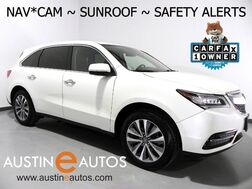 2016_Acura_MDX w/Tech_*NAVIGATION, BLIND SPOT ALERT, COLLISION & LANE DEPARTURE WARNING, BACKUP-CAMERA, LEATHER, MOONROOF, HEATED SEATS, 3RD ROW, BLUETOOTH PHONE & AUDIO_ Round Rock TX