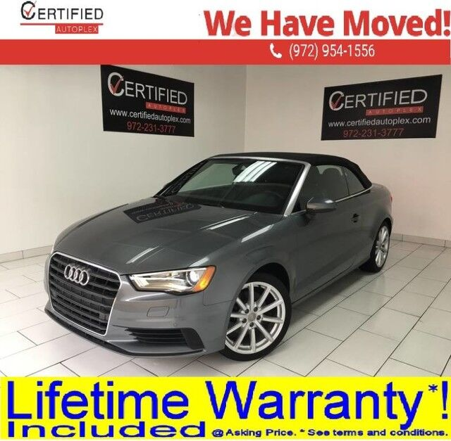 2016 Audi A3 1.8T CABRIOLET PREMIUM S TRONIC MMI NAVIGATION PLUS REAR CAMERA PARK ASSIST Dallas TX