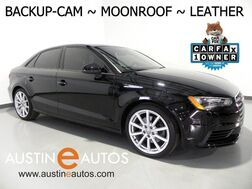 2016_Audi_A3 1.8T Premium_*BACKUP-CAMERA, OVERSIZED MOONROOF, LEATHER, HEATED SEATS, ADVANCED KEY, BLUETOOTH PHONE & AUDIO_ Round Rock TX
