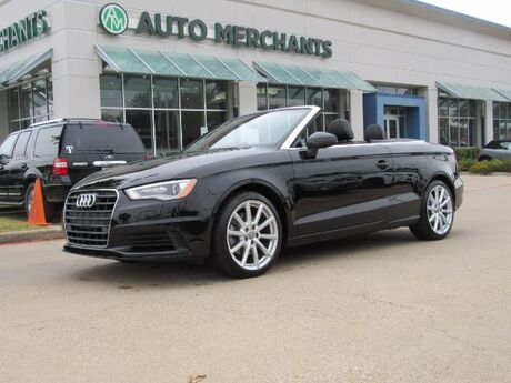 2016 Audi A3 1.8T Premium Cabriolet FWD S tronic, NAVIGATION SYSTEM, LEATHER INTERIOR, HEATED SEATS, HID HEADLIGH Plano TX