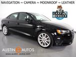 2016 Audi A3 1.8T Premium *NAVIGATION, BACKUP-CAMERA, OVERSIZED MOONROOF, LEATHER, HEATED SEATS, ADVANCED KEY, SPORT SUSPENSION, BLUETOOTH PHONE & AUDIO